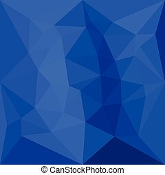 Bright Navy Blue Abstract Low Polygon Background - Low...