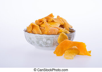 mango dry in bowl or dried mango slices - mango dry in bowl...