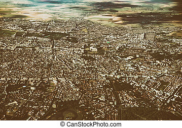 Aerial View Of Bucharest City In Romania