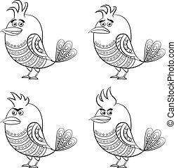 Funny Birds, Set, Contour