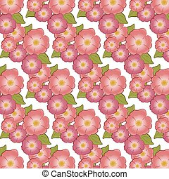 Brier Flower background pattern Vector