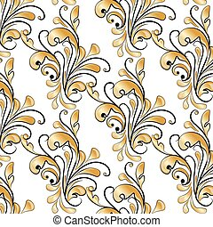 Classic style gold ornament pattern