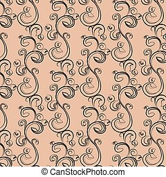 Symphony acanthus ornament pattern Vector