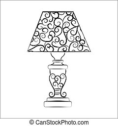 Classic lamp with ornaments