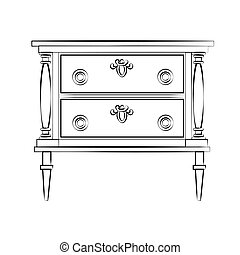 Classic furniture with royal luxury ornaments