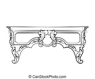 Classic royal ornament table furniture