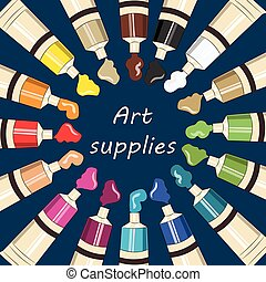 Art supplies for school