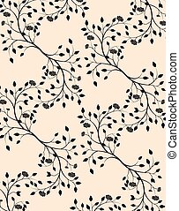 Classic style circular pattern - Roses ornament pattern...