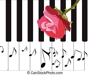 Abstract Piano Music background