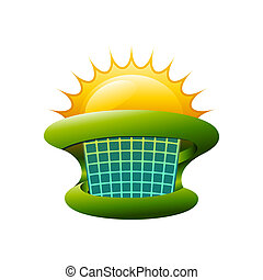 Colorful Solar Energy Symbol