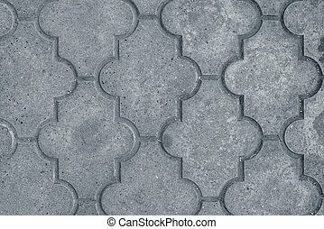 Decorative concrete slabs pavers texture, top view