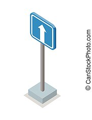 One Way Traffic - Road Sign - One way traffic road sign...
