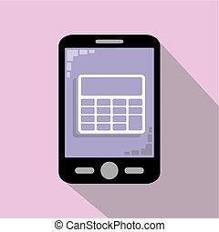 Smartphone icon - Smartphone calculator icon