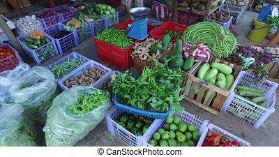 Village Asian market - El NIDO, PHILIPPINES - FEB 4: Village...