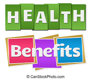 Health Benefits Colorful Stripes - Health Benefits text...