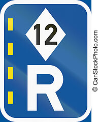 Road sign used in the African country of Botswana - Reserved...