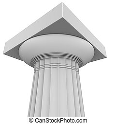 3d render of Greek column - 3d render of Greek archaic Doric...