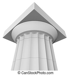 3d render of a classic Greek Doric column