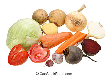 Group of vegetables