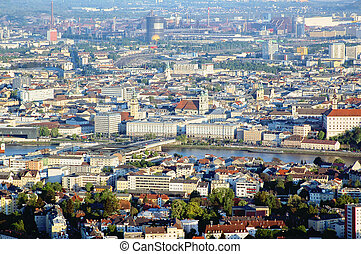 Linz from Above - picture of linz, the capital city of upper...
