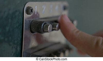 lock code on the set buttons door slow motion video - lock...