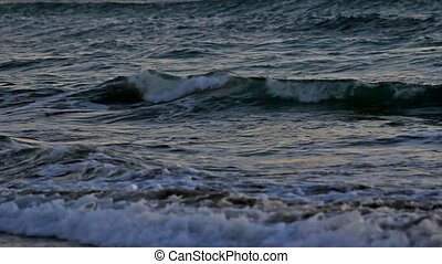 Crashing ocean waves closeup 1080p