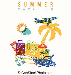 Summer Vacation Concept - Summer Vacation and Tourism...