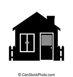 house window door icon vector