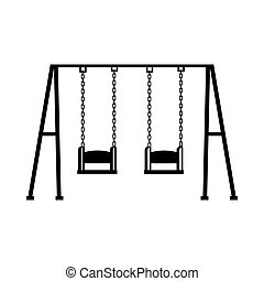 swing game children icon vector - swing children structure...