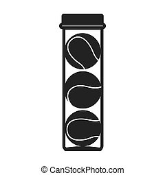 tennis ball bottle container icon vector - tennis bottle...