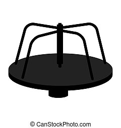 roundabout playground game icon vector - roundabout...