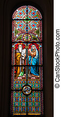 stained glass from Riga carhedral - beautiful and colorful...