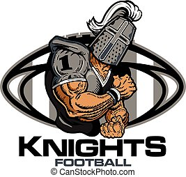 knights football - muscular knights football player team...