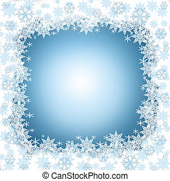 Winter frame with snowflakes - White frame with snowflakes...