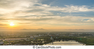 View of Downtown Prachuap Khiri Khan District from Thailand
