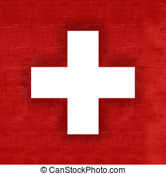 Flag of Switzerland Grunge - Illustration of the flag of...