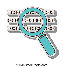 lupe binary code search system look handle vector...