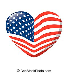 heart love america usa