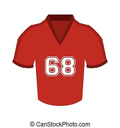 uniform t-shirt football american icon vector