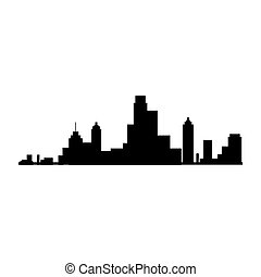 new york city view silhouette - new york silhouette city...