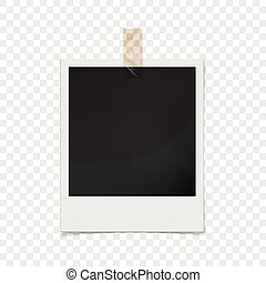 Photo frame, realistic style - Realistic photo frame icon....