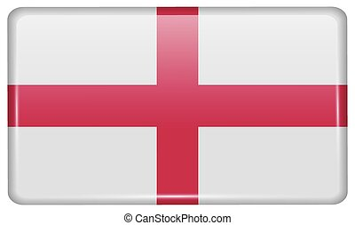 Flags England in the form of a magnet on refrigerator with...