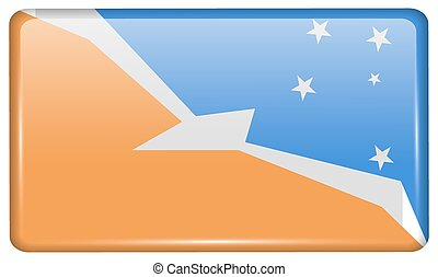 Flags Tierra del Fuego Province in the form of a magnet on...