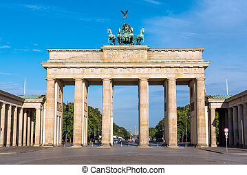 The Brandenburger Tor in Berlin
