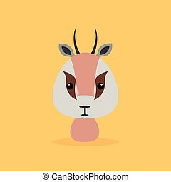 Cute Cartoon Wild gazelle - Cute cartoon wild gazelle on a...