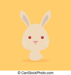 Cute Cartoon Wild rabbit - Cute cartoon wild rabbit on a...