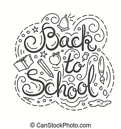 Back to school card.