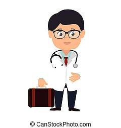 medic doctor man suit - medic medical glasses doctor...