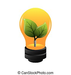 bulb ecology plant growing environment electricity vector...