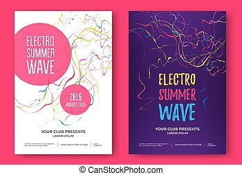 Summer wave music poster